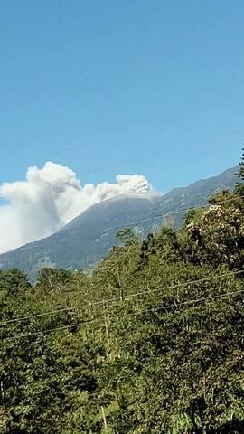 Apartamento con vista al volcán