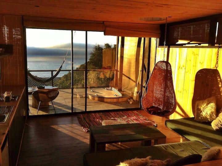 Lindo loft, vista al mar y hot tub