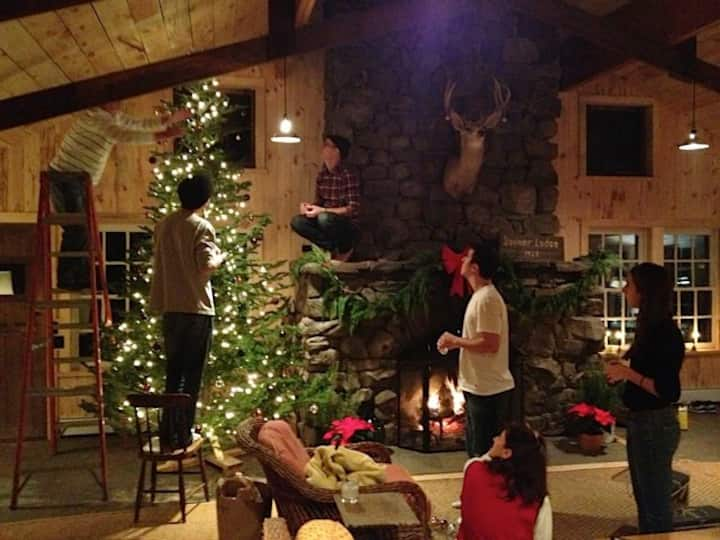 Our first Christmas at Bonner Lodge with the family