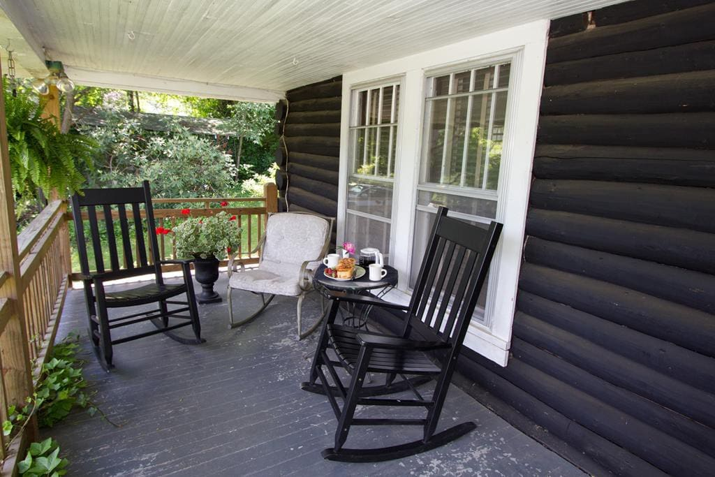 This is what you are looking for...rocking chair front porch, your decompression chamber...ahhh!