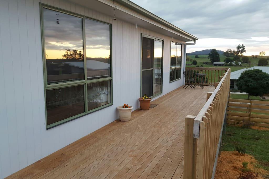 Front Deck at dusk