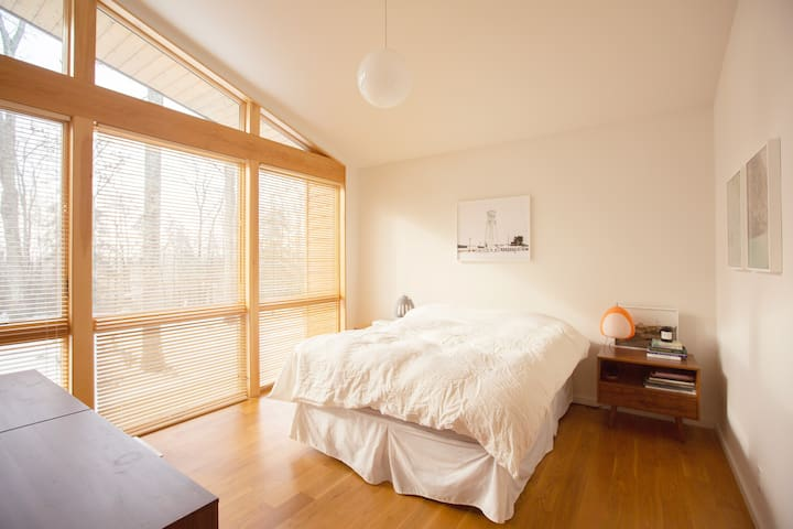 Master bedroom, with views to the south