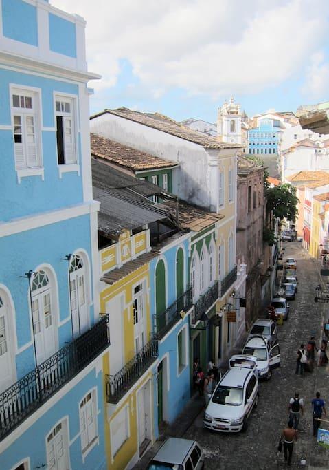 window view towards Pelourinho square