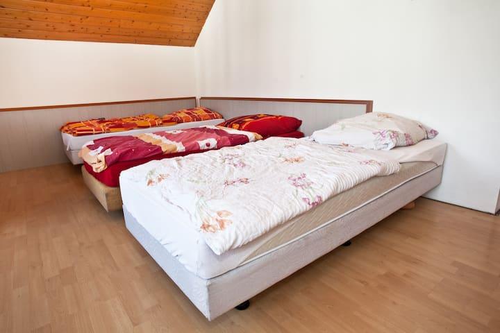Ein-Zwei-Drei-Bett-Zimmer (Mehrbettzimmer +++) - Wolnzach