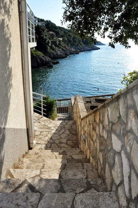 Private access to the beach.
