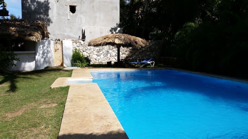 Large villa,big pool,2 blocks beach - Punta Cana - Hus