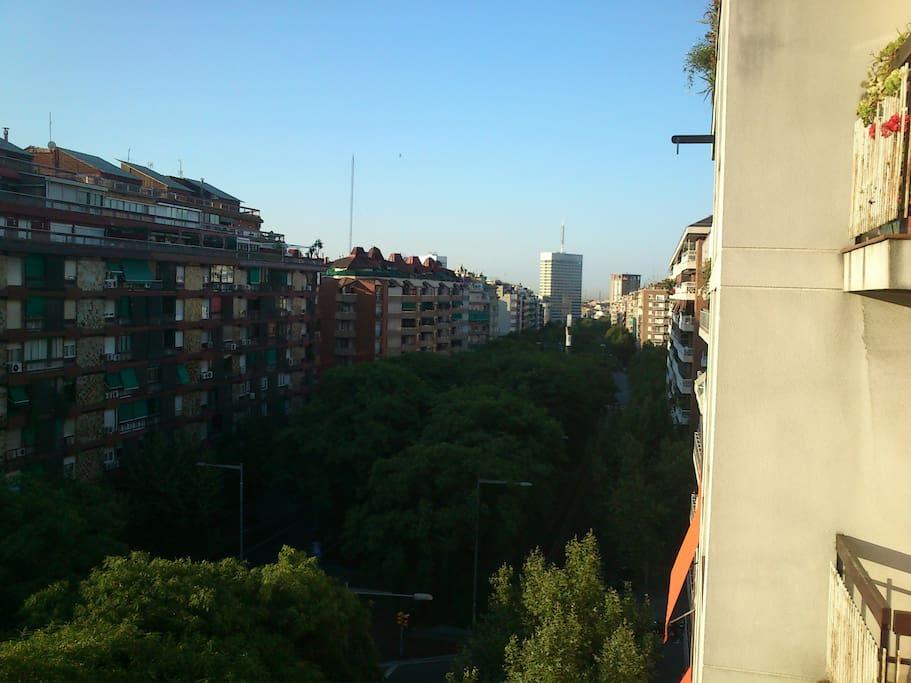 Vistas a la Avenida Josep Tarradellas