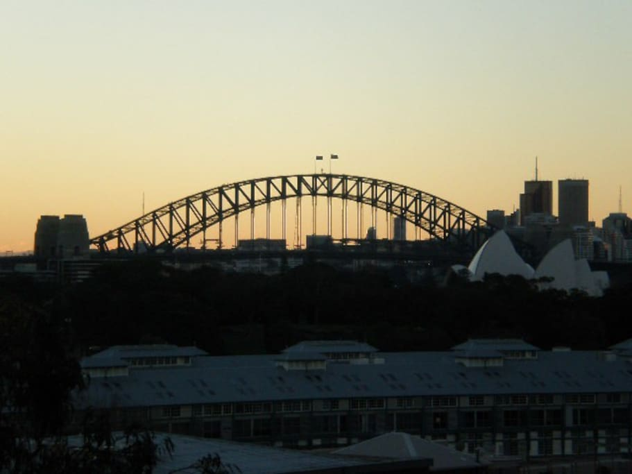 Opera House and Harbour Bridge at dusk