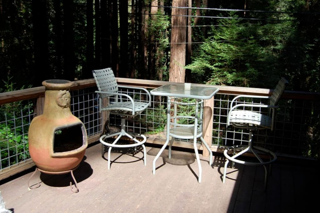 Outdoor deck area