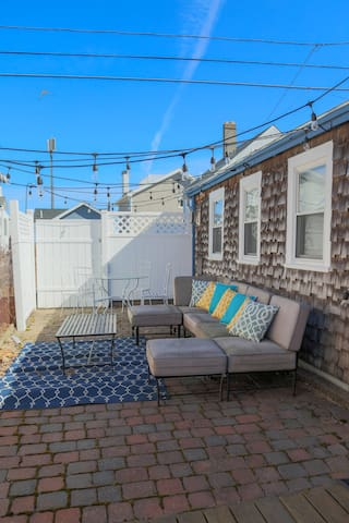 Plenty of private backyard space. We also have a propane grill for summer outdoor cooking and dining.