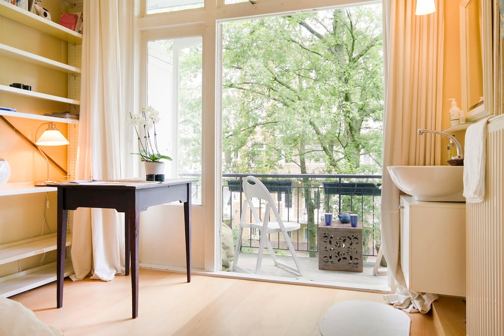 French doors opening to balcony