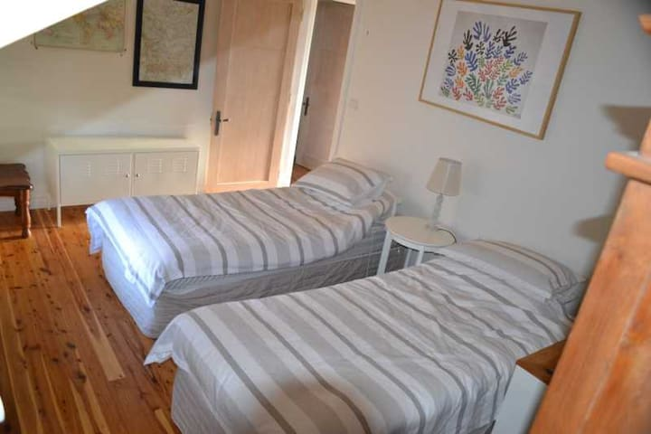 The 2nd bedroom can be configured either as two singles or as a king sized bed