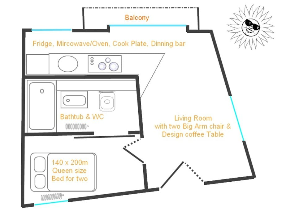 The plan of my Apartment