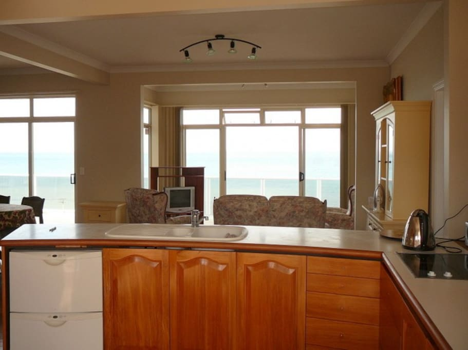 Fabulous views from the kitchen too.