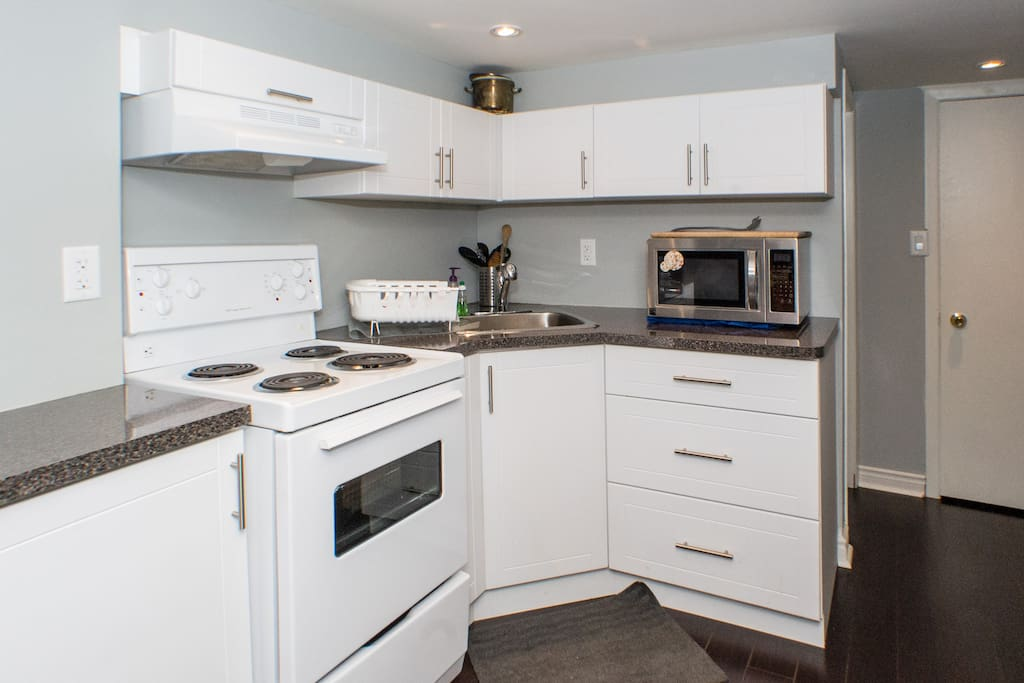 Kitchen with full equipment.