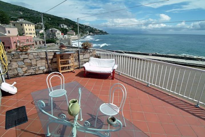 Apartment with terrace on the sea - Brando - Apartamento
