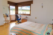 Room #1 - Desk and access to balcony