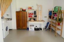 The large basement / equipment room
