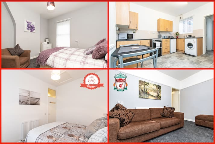 ⭐⚽Whole house 3 min walk to stadium FREE PARKING⚽⭐
