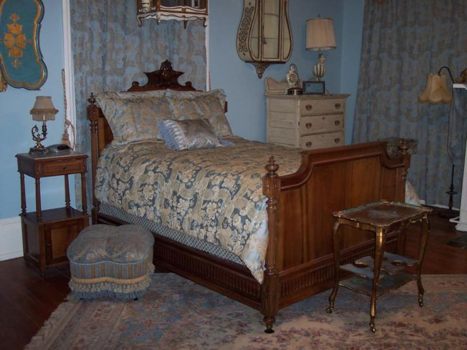 French Room, soft peaceful blue with French furniture and Florentine accents