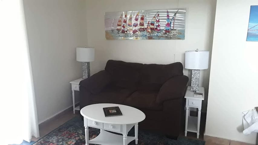 Sofa, coffee table and end tables