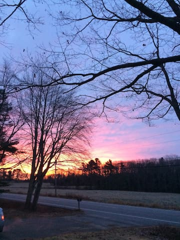 Winter sunrise from our house