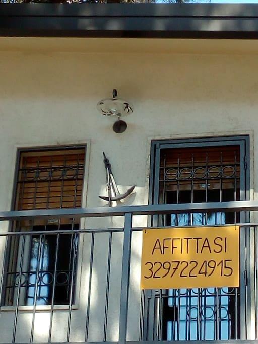 Balcone dell'appartamento