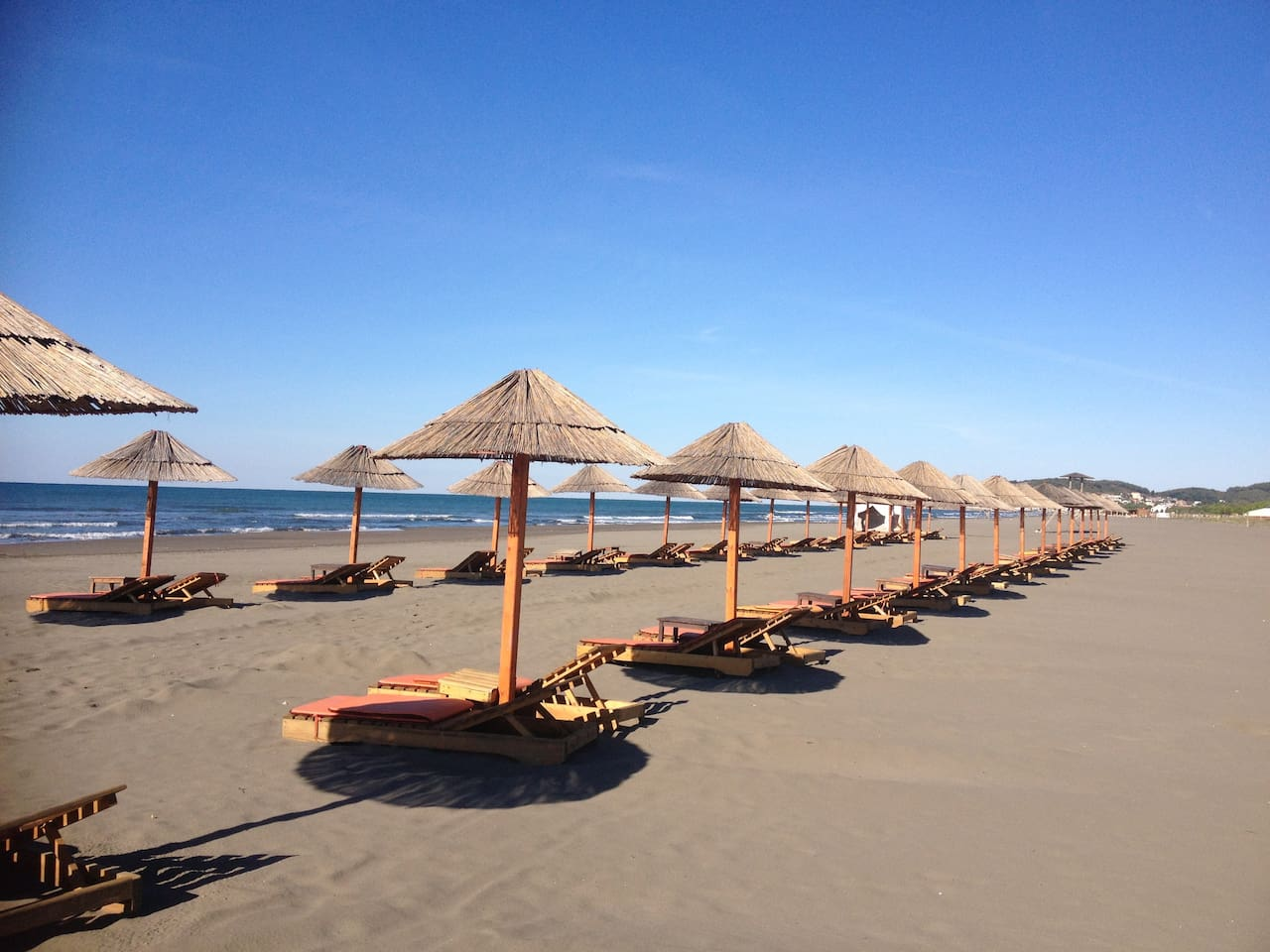 Safari beach, 500 meters from our home.