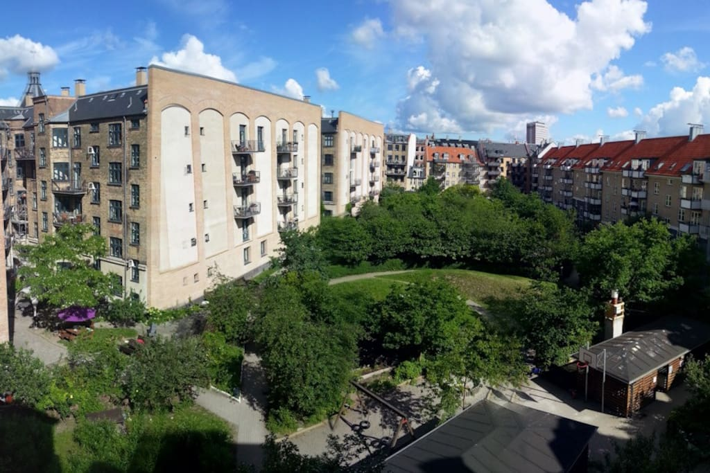 Our little gem of a courtyard - view from the balcony