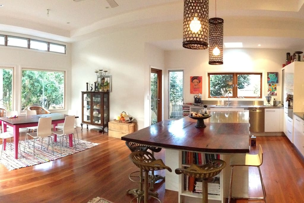 Bright and sunny - great space to spend cold winters' days.