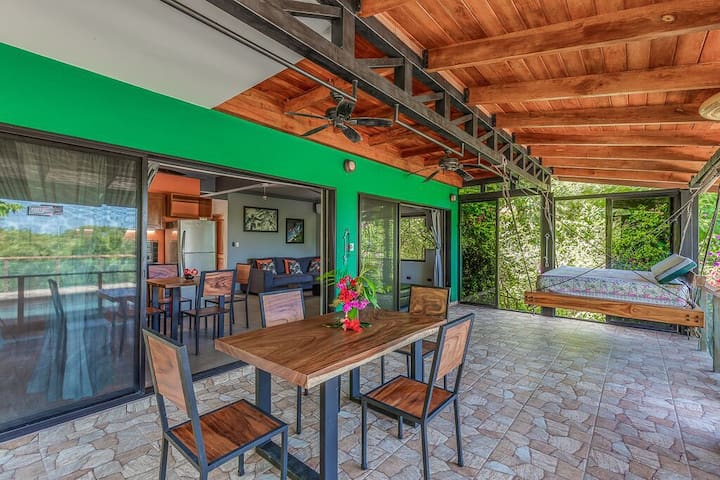 Dining al fresco! Many options in this home to sit down for a quick meal, eat a fresh fruit snack or even check in with the office... or maybe not!
