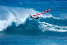 Ho'okipa Beach is said to have the best Windsurfing in the world!!  Just minutes away...