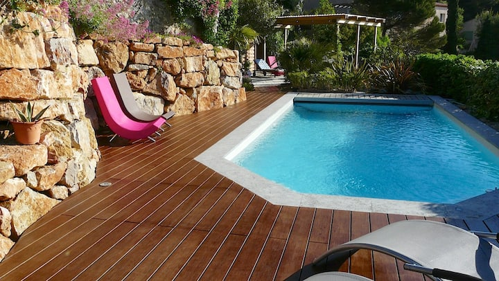 T2 RdC +piscine, Hyères,Côte d'azur