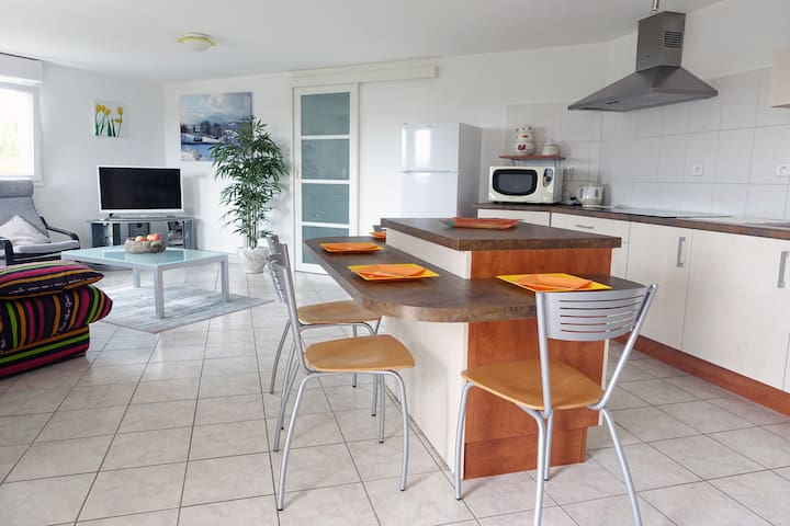 Spacious condo with patio and stunning lake view