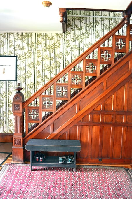 A formal entryway greets you as you enter the home.