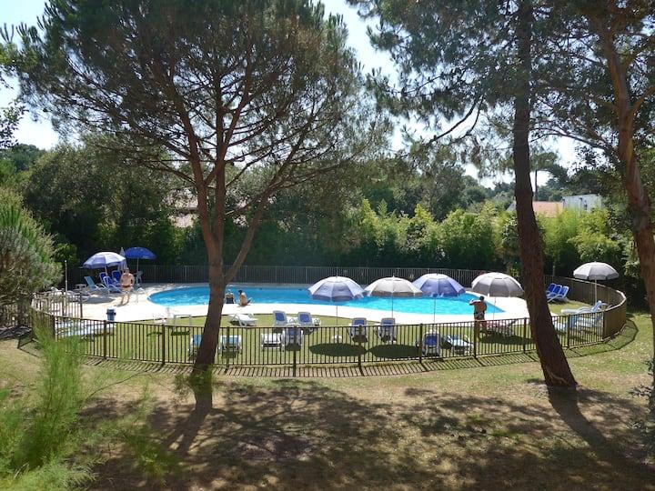 Capbreton: T3 cosy, wifi, piscine