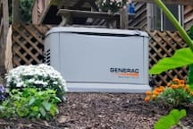 Back up Generator supplies the home with electricity if the power goes out