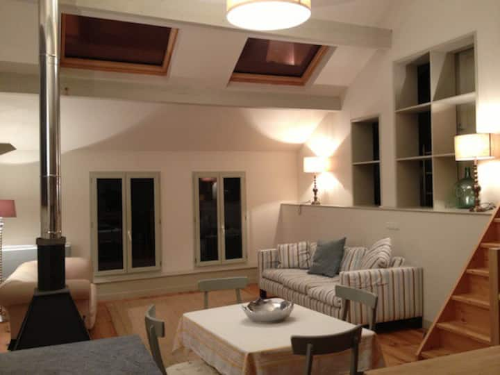 Loft style village apartment