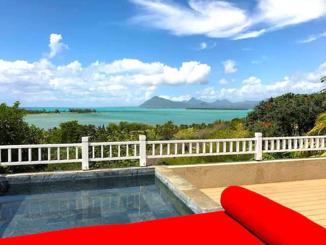 Lagoon & Golf View with Private Plunge on Le Morne