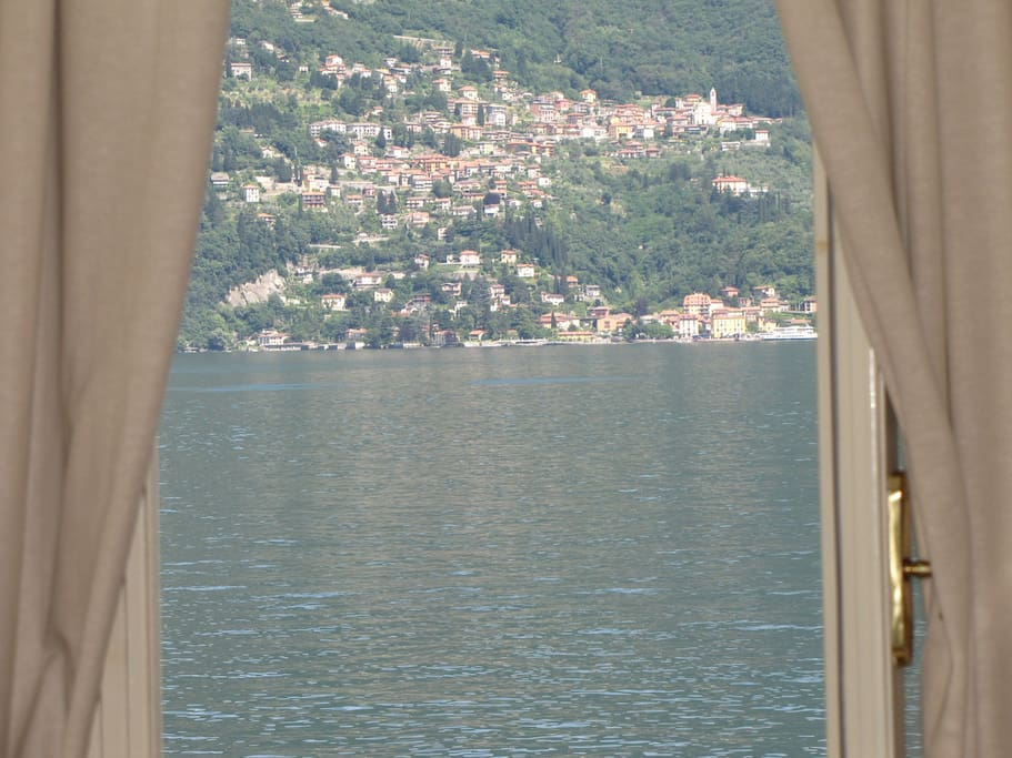 View of Varenna from master room's window