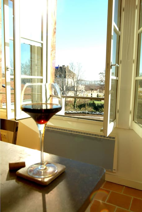 Kitchen's view on Pommard castle