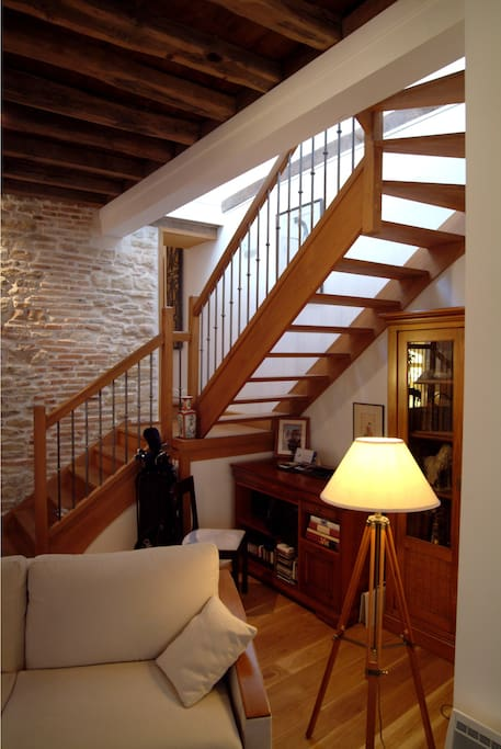 17th century house on two floors