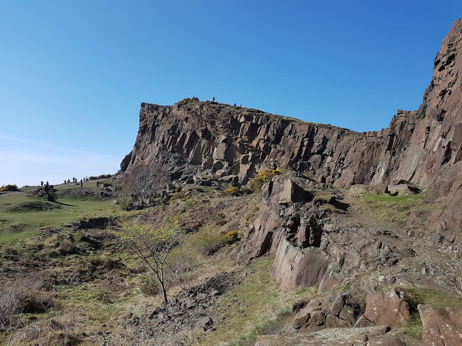 The Salisbury Crags - just 5 mins away