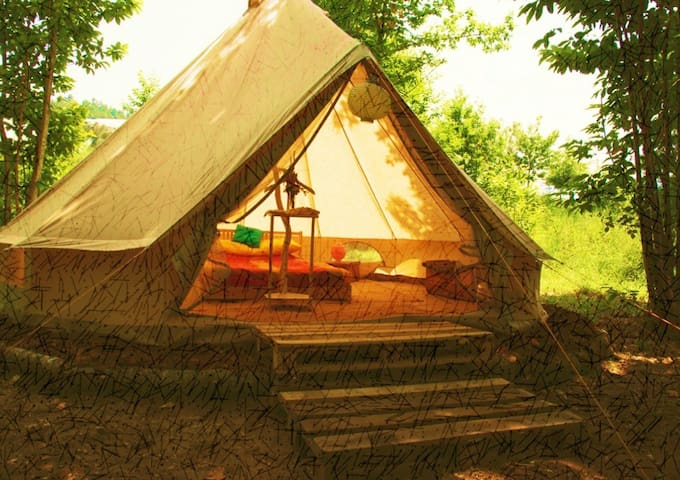 Beautiful Bell Tents in Portugal - Vale, - Telt