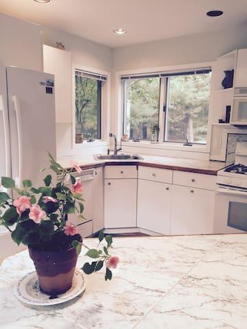 Open-air kitchen.