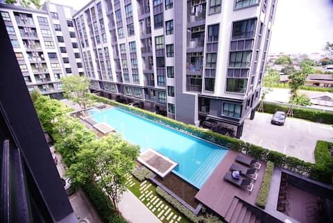 ★ Swimming pool view Room ★opposite to KU sriracha