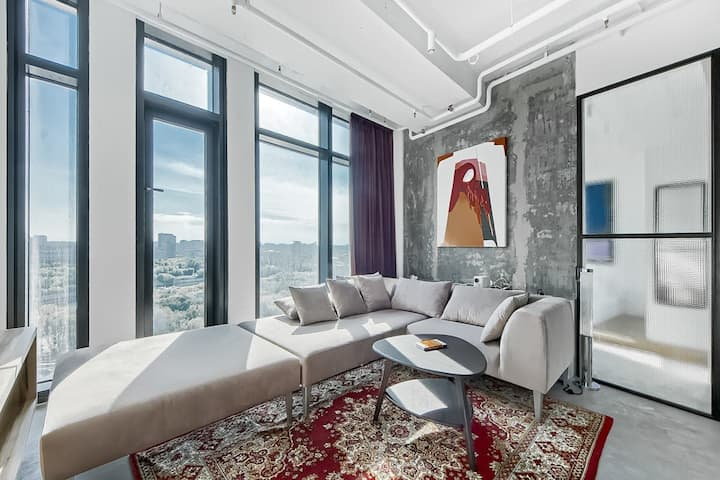 Flat Inn   Moscow City IQ Tower   Panoramic View