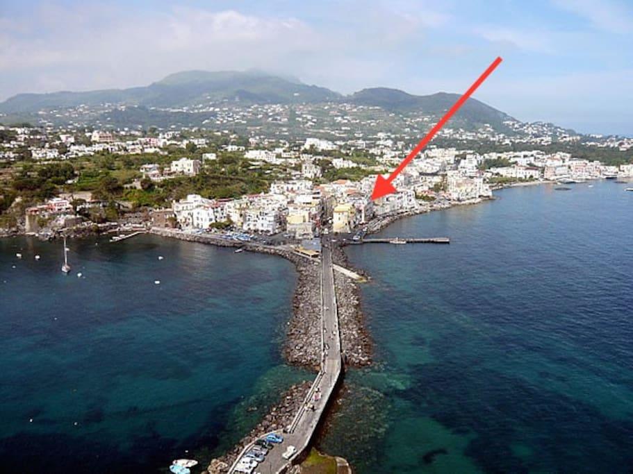 veduta di Ischia ponte dal castello aragonese