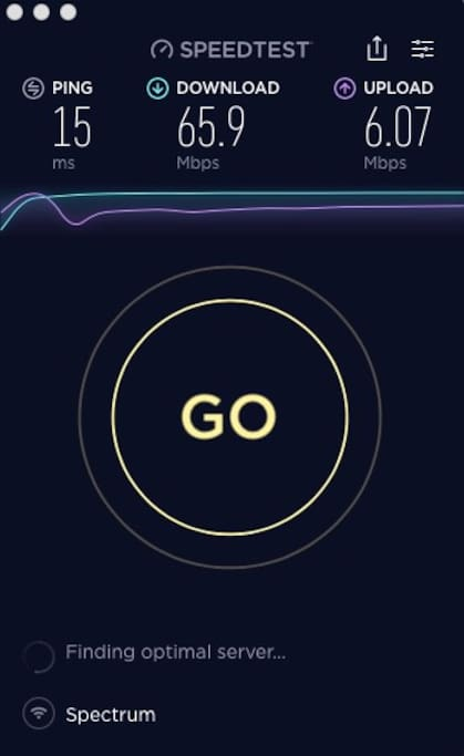 Super fast Free WIFI 65.9 Mbps