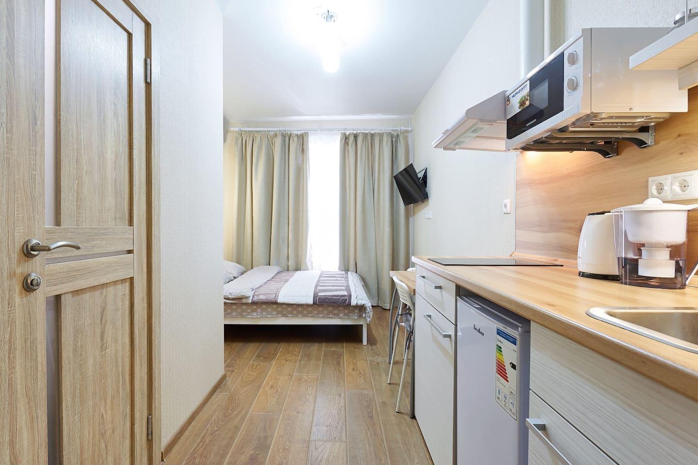 Квартира небольшая, но все продумано до мелочей, чтобы чуствовать себя уютно и комфортно